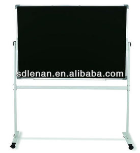Mobile black chalkboard with stand