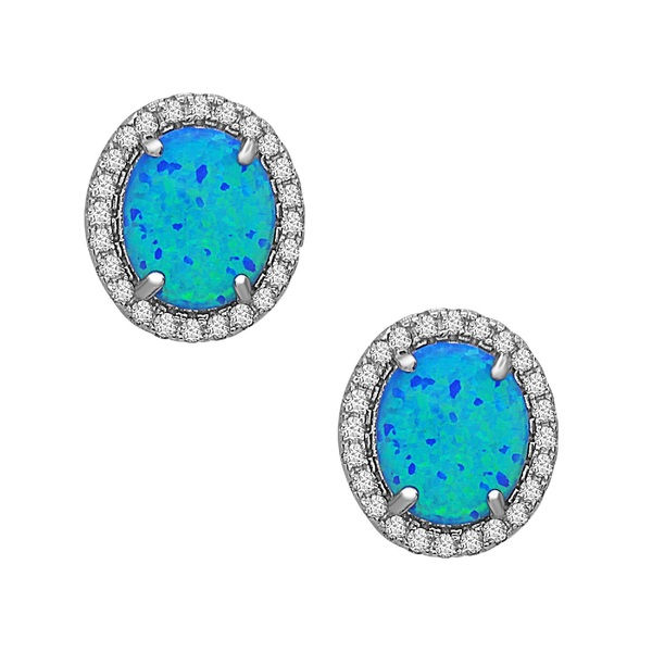 2018 news Xuanhuang sterling silver cubic zirconia real opal stud earrings wholesale