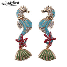 2016 New Arrival Fashion Unique Dragon Style Metal Plated Luury Long Vintage Statement Earrings For Women 3641