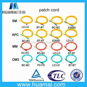 ISO9001 ISO14001 fc/pc fc/apc connector sc-sc dx mm fiber optic jumper