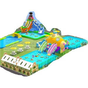 Cheap inflatable mini water park for adult