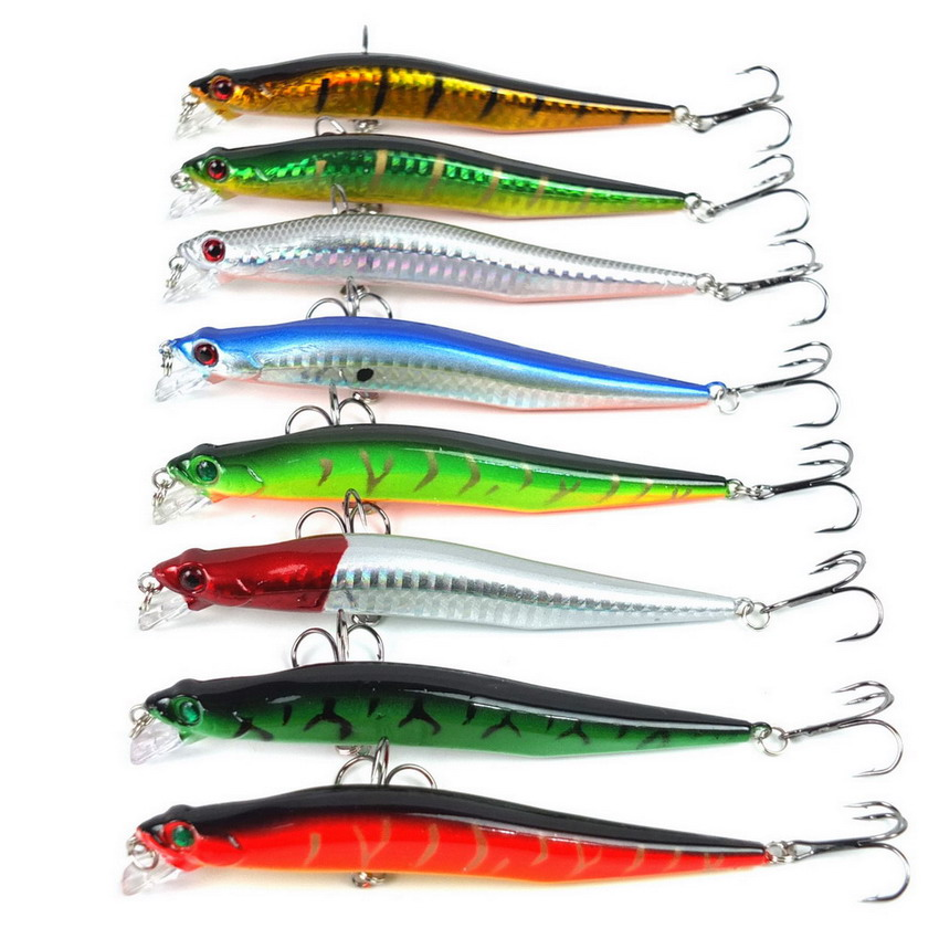 Minnow <strong>Fishing</strong> Lure 12cm 10g <strong>fishing</strong> tackle 8Pcs/Pack 3D Artificial Bait Hard Floating big <strong>fishing</strong> Lures leurre peche