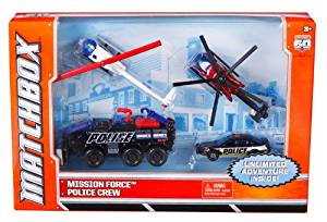 Matchbox Sky Busters Mission Force Police Adventure Pack