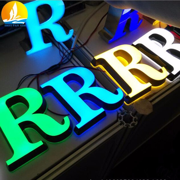 raised letter and numbers high brightness epoxy resin channel letter sign