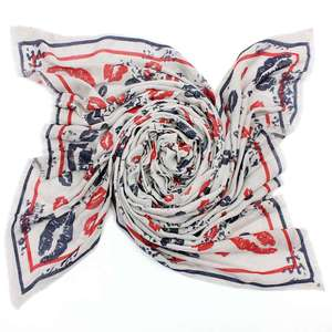 European style fashionable new design viscose scarf lips printed scarf viscose shawl scarf