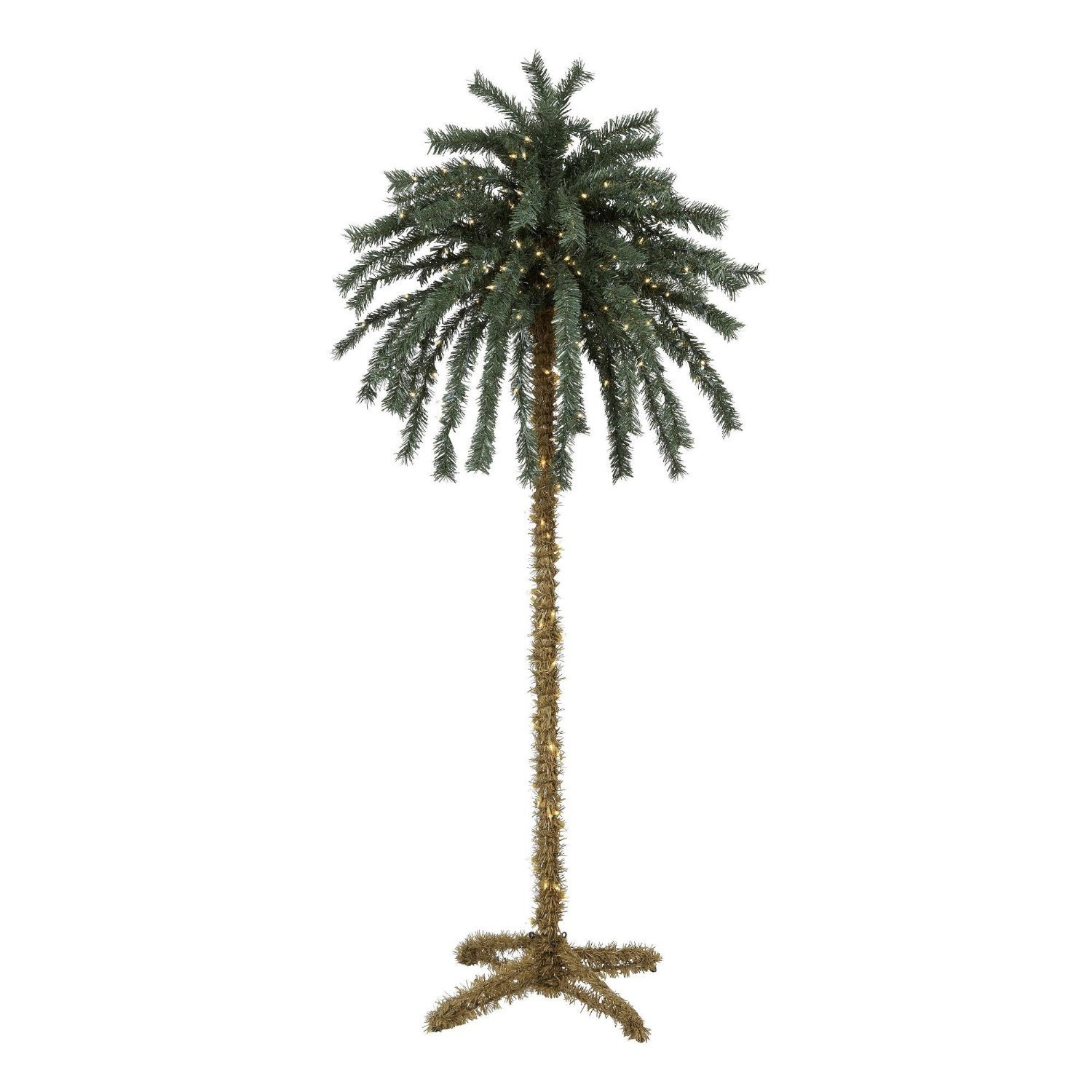 get quotations 7 foot lighted christmas palm tree 4 300 lights indoor