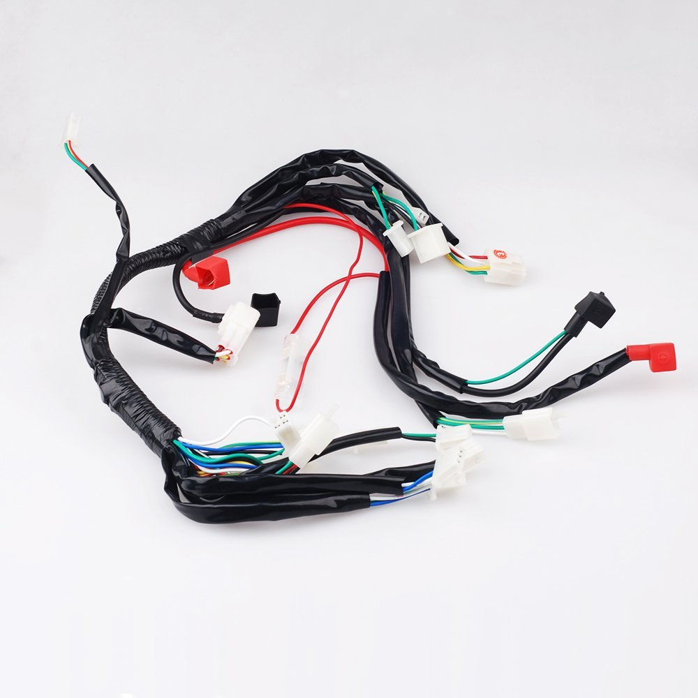 CISNO Electrics Wiring Harness for ATV UTV Quad 4 Wheeler 50cc 70cc 90cc 110cc