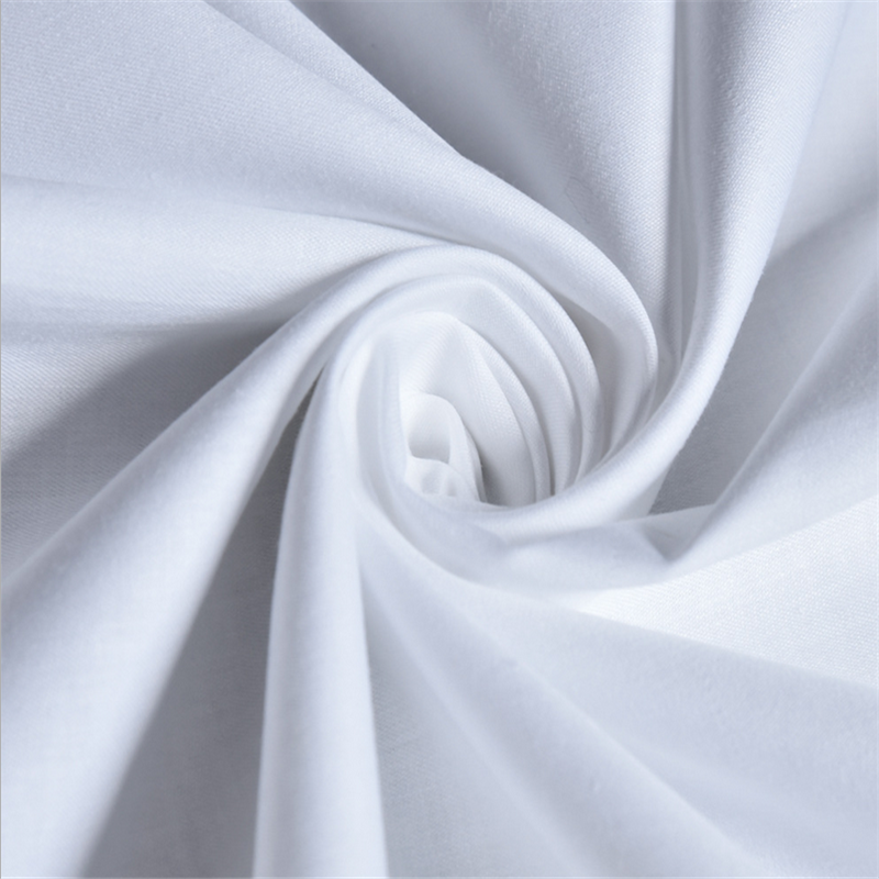 Cheap 100% plain white percale cotton fabric 133*72 bed cover fabric