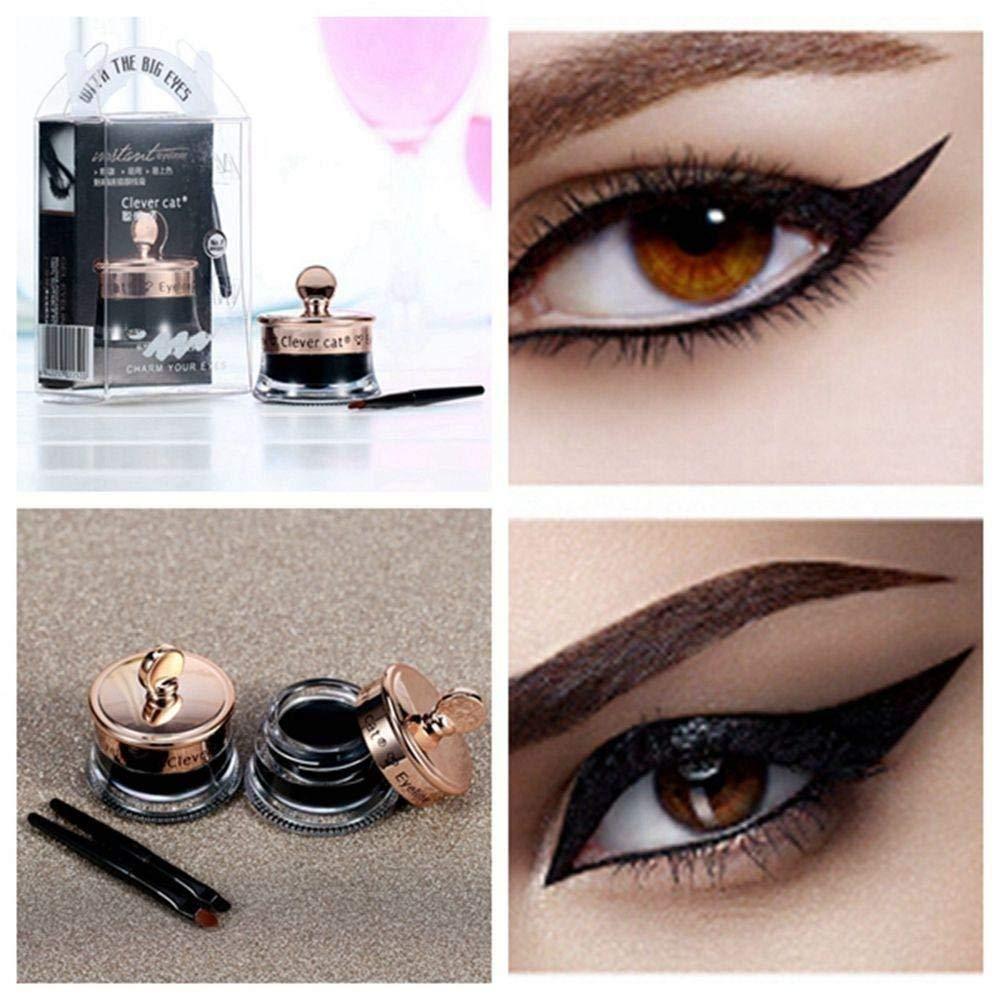 Aiweikang Hot Sale Black Makeup Set Waterproof Eye Cosmetic Long Lasting Eyeliner Gel+Brush