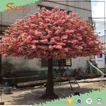 artificial red cherry blossom tree cherry blossom branches wholesale