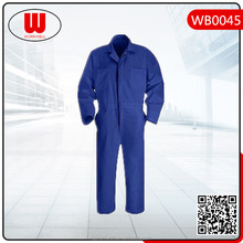 Blue fireproof oilproof cotton coverall