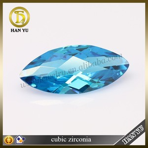 marquise cut zircon blue topaz pendent cubic zirconia stone manufacture