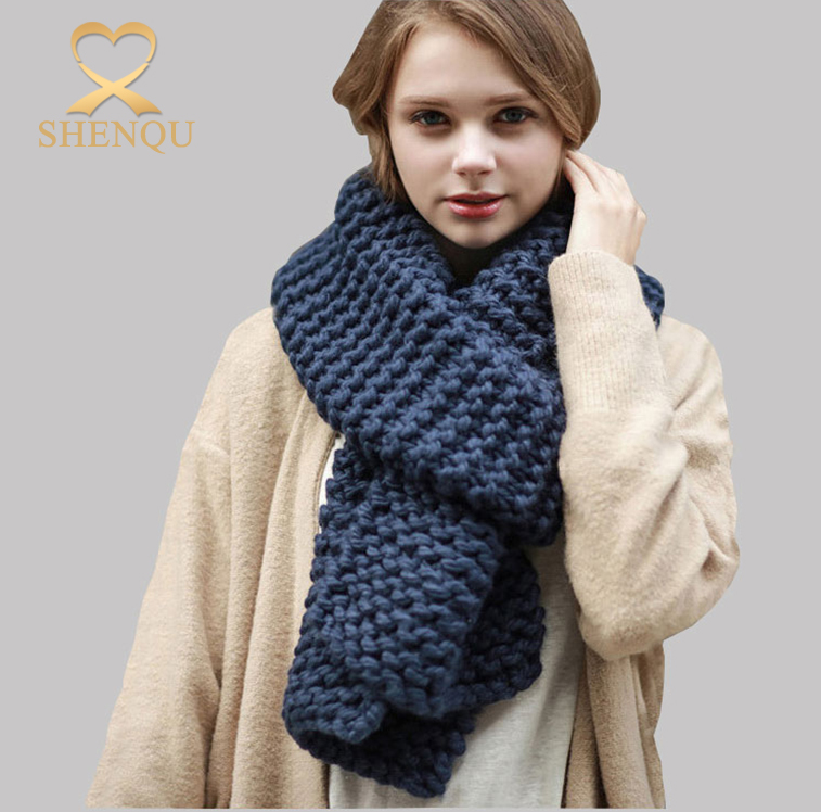 2017 Fashion winter wear women big acrylic knitted scarf chevron knit infinity scarf wholesale winter knitted scarves