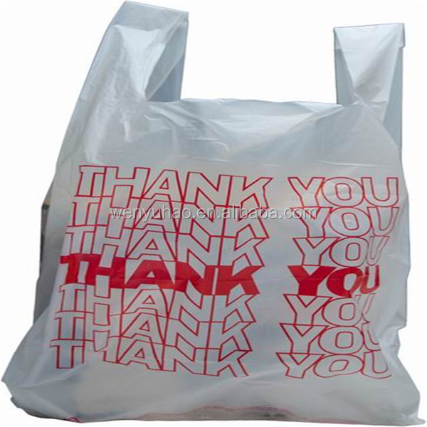 Thank you plastic bags trend bags for Personalized t shirt bags