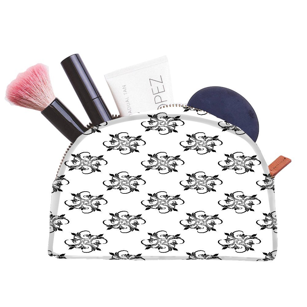 Snoogg Abstract Pattern Grey Designer Multifunctional Canvas Pen Bag Pencil Case Makeup Tool Bag Storage Pouch Purse