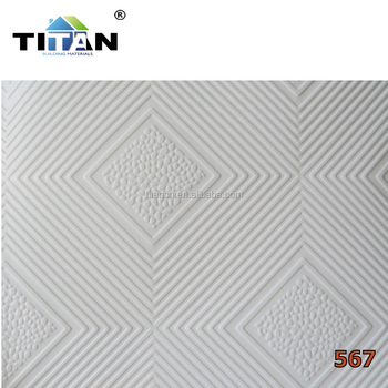 Plasterboard Pvc Gypsum Ceiling Tile Board Laminated Gypsumboard Tiled