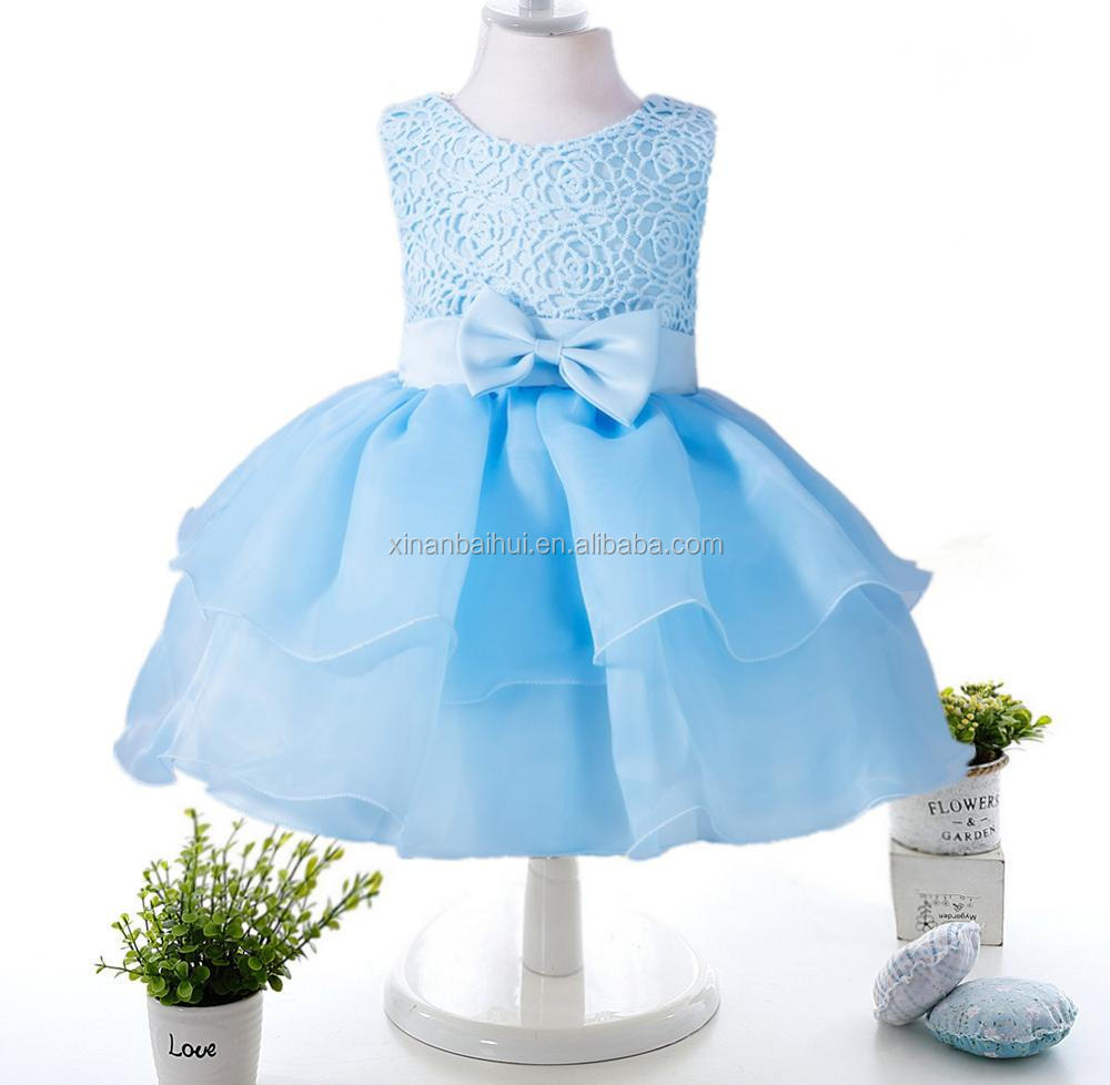 European And American Style Baby Dress For 2 Years Old Chiffon ...