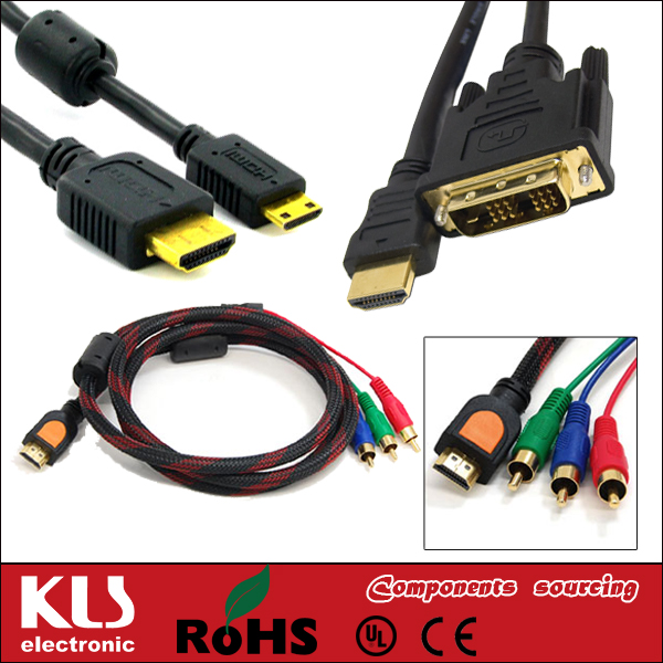 Good quality for xbox 360 slim vga cable UL CE ROHS 002 KLS brand