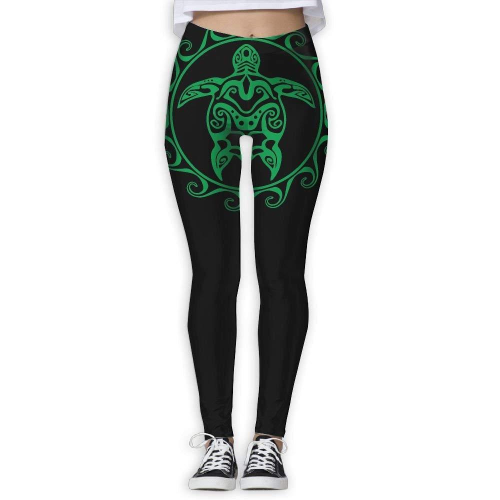 359104308fd39 Get Quotations · DDCYOGA Tribal Maori Sun Turtle Womens Stretch Boot Leg  Yoga Leggings Bike Running Yoga Leggings For