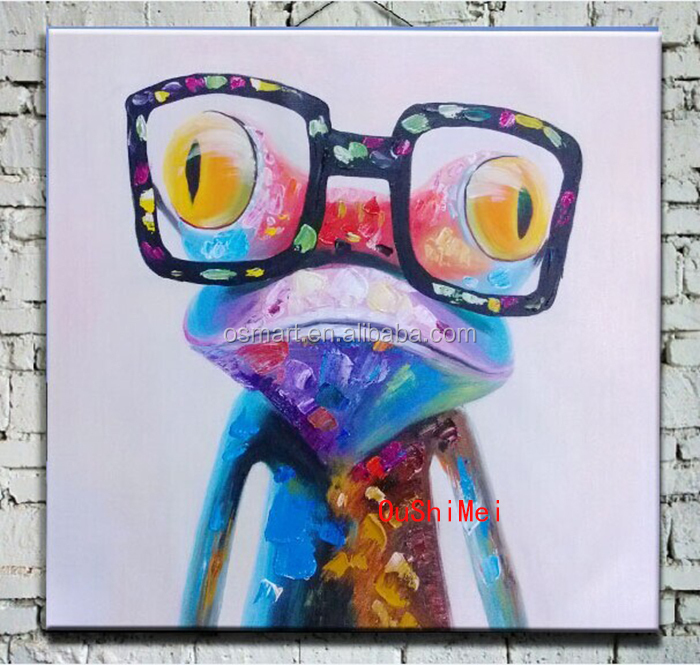 Frog Oil Paintings Modern Abstract Animals Pictures Of Wall ...