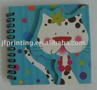 Stationery paper product spiral notebook with color pages