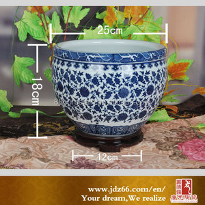 Blue and white hot design porcelain clay plant pots
