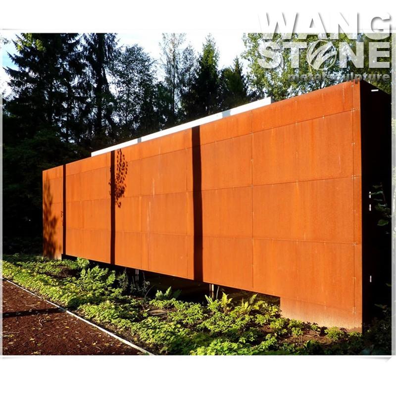 Laser Cut Decorative Metal Corten Steel Garden Screen