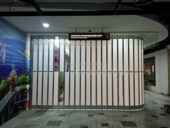 Pc Folding Door Widely Used In Shopping Mall/mega Mall - Buy Crystal ...