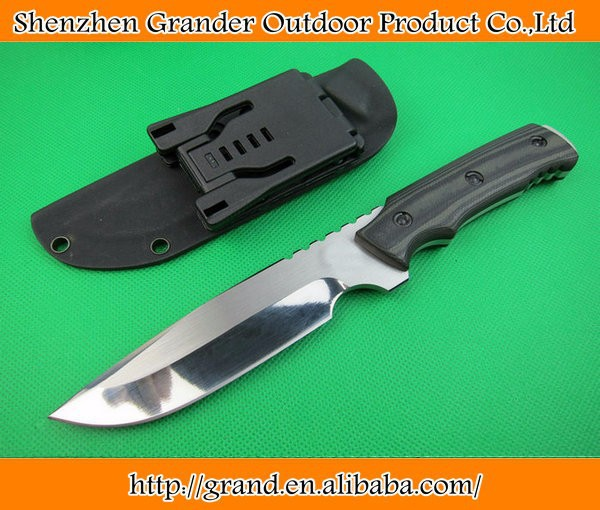 OEM camping hunting knives fixed blade tactical knife rescue tool hand 9Cr18Mov 59HRC blade Micarta handle 1498