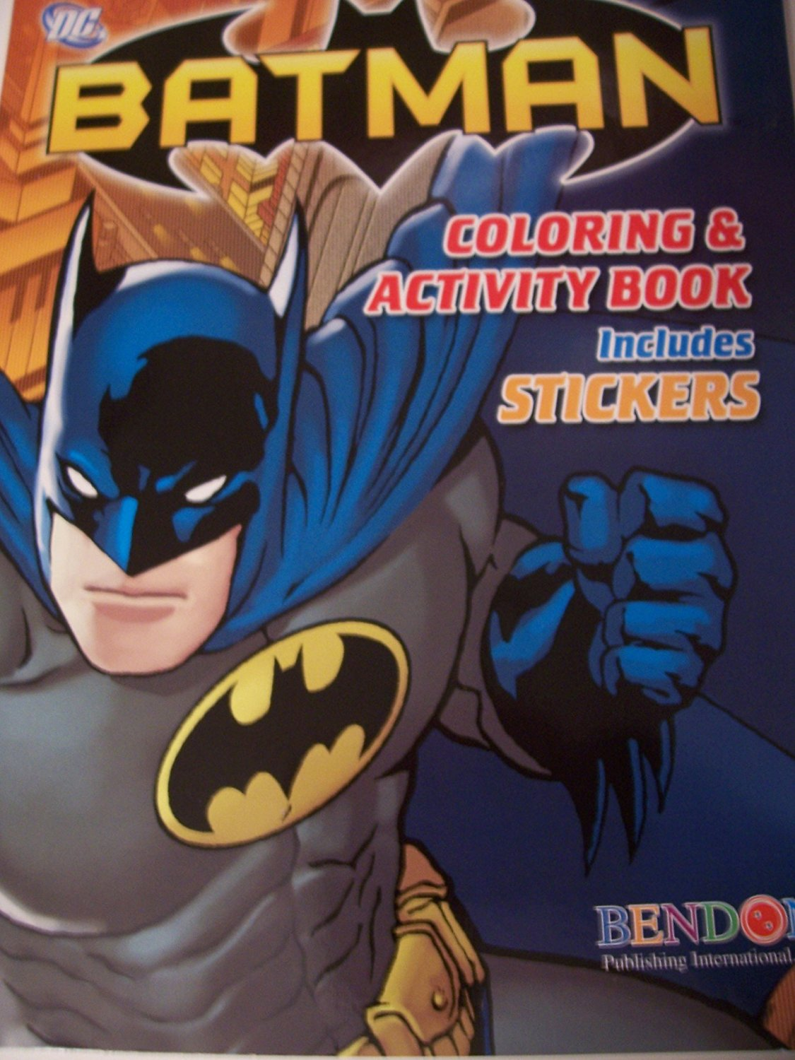 DC Comics Batman Coloring And Activity Book With Stickers 150 Pages