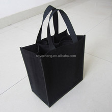 polypropylene foldable recycle customized high quality non woven wine bottle tote bag
