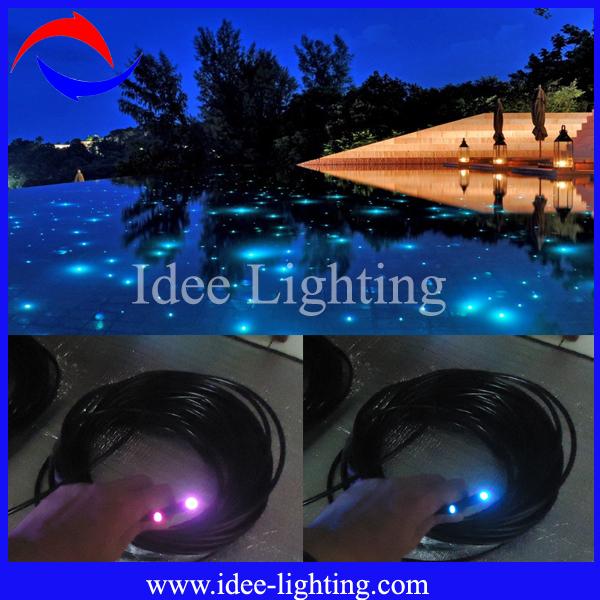 Big Diameter Fiber Optic Led Light Swimming Pool Rope