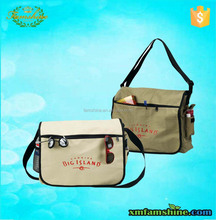 fashion strong shoulder men canvas messenger bag
