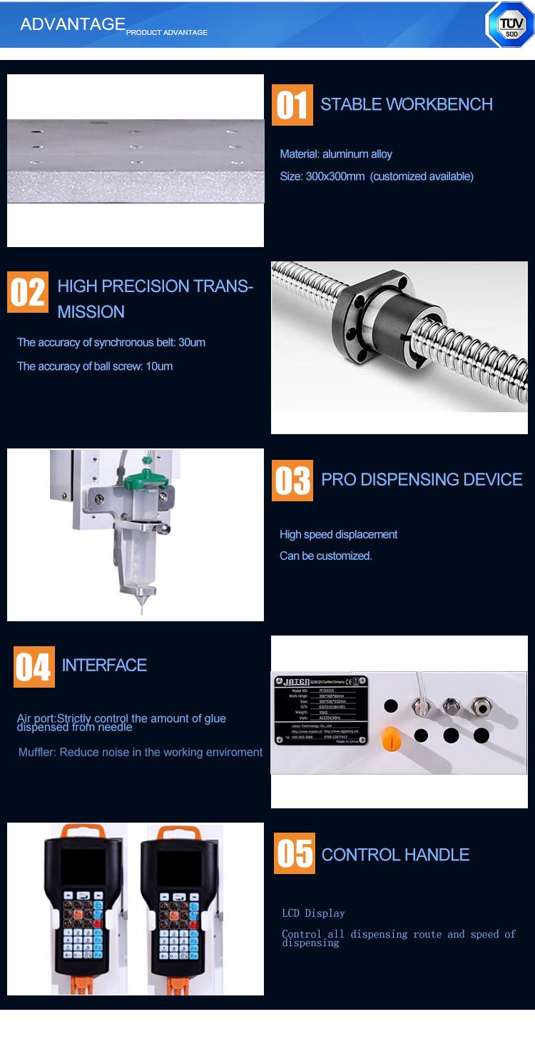Vloeibare lijm doseren/dispenser machine in elektronica productie machines