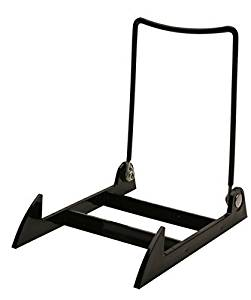 "1 Gibson Holders 3PLBB Adjustable Wire & Acrylic Easel - 4"" W x 5.5"" H with 4.5"" ledge, Black"