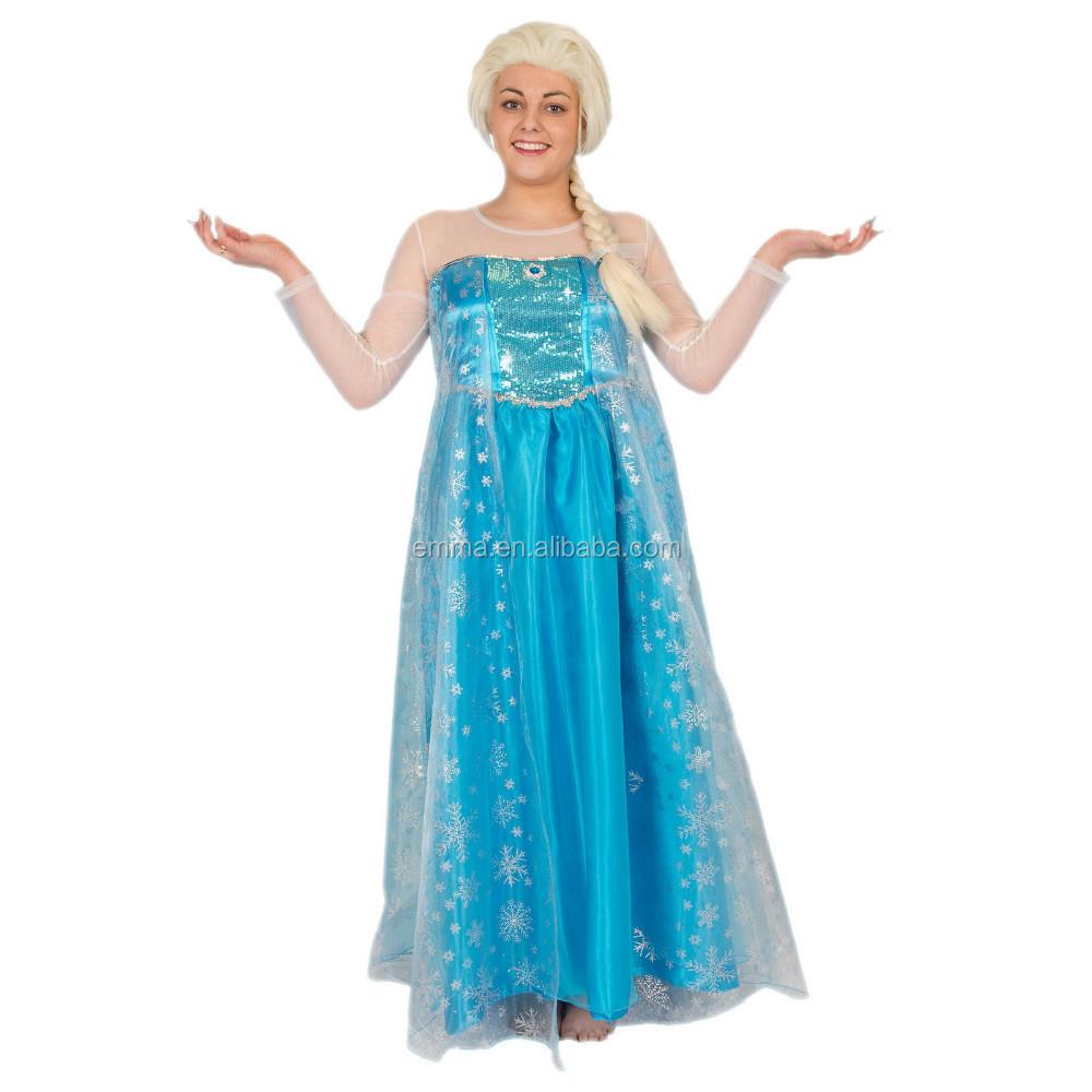Adult Elsa Frozen Inspired Snowflake Party Fancy Dress Princess