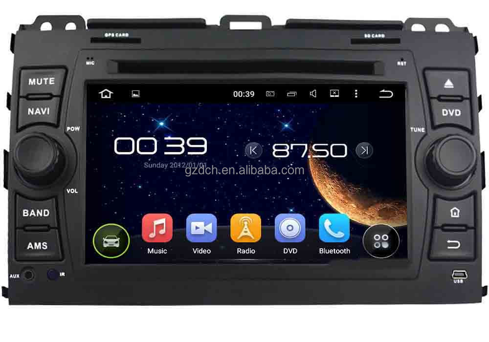 5.1 <strong>android</strong> car dvd gps for toyota PRADO Cruiser 120 1024*600 1G+16G quad core with can <strong>bus</strong> support 4G WS-9126