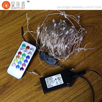 10m 100led Christmas Lights Color Changing Led Remote Control String 100 Copper