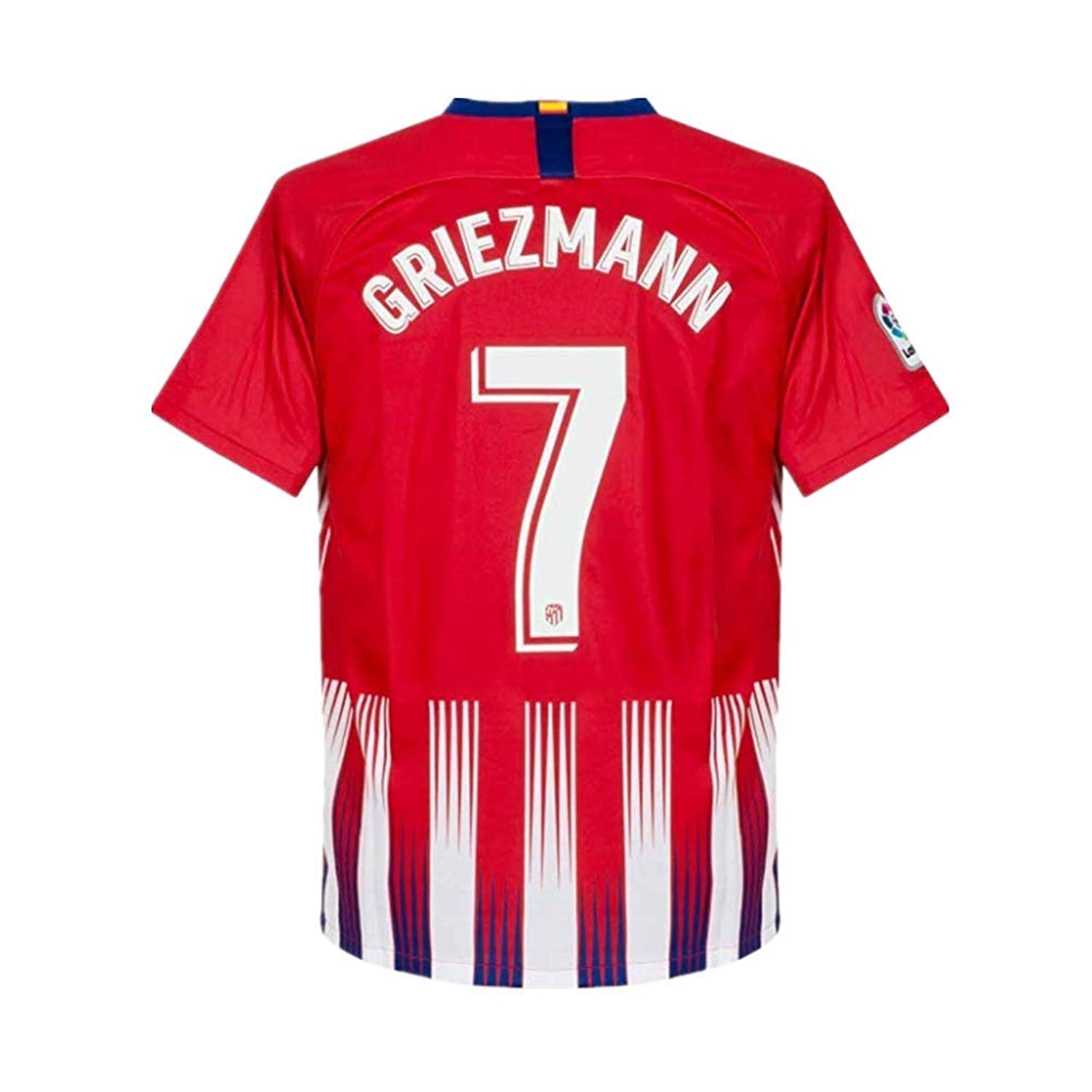 f3e290b6f95 Get Quotations · Zymenjs Atletico Madrid  7 Griezmann 2018-2019 Season Home  Soccer Jersey Mens Color Red