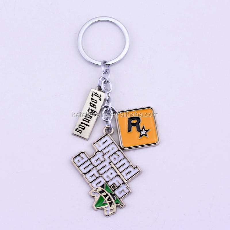 GTA 5 keychain Grand Theft Auto V Keychains For Fans PS4 Xbox PC Rockstar Game