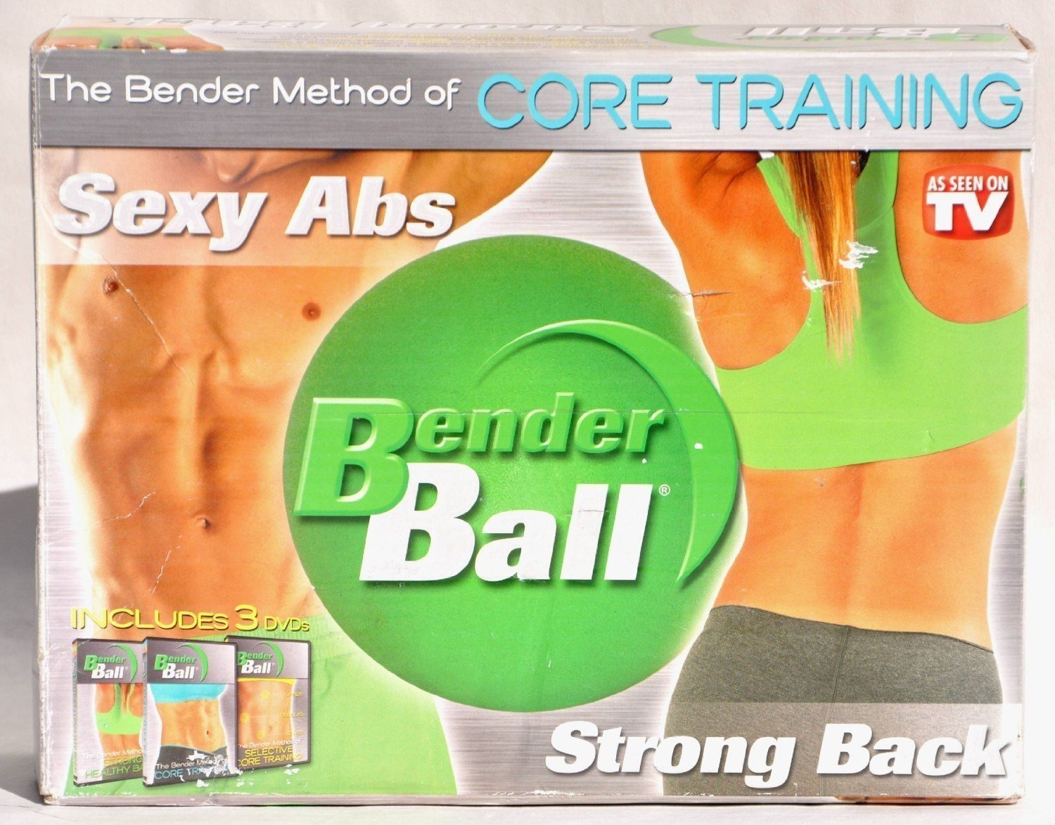 BENDER BALL: The Bender Method of Core Training Set Kit for Sexy Abs & Strong Back As Seen On TV Includes Bender Ball & 3 DVDs