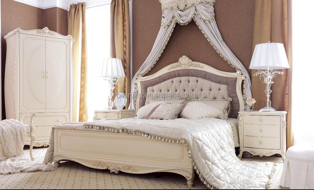 Elegante in stile francese mobili camera da letto, in legno massello ...