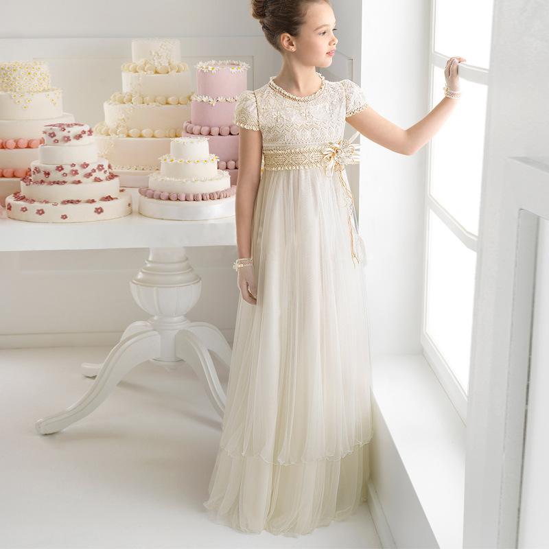 55e9019f86bb4 LSW131 fantaisie petites filles robes de soirée enfants robe de mariée robe  de soirée bal robe
