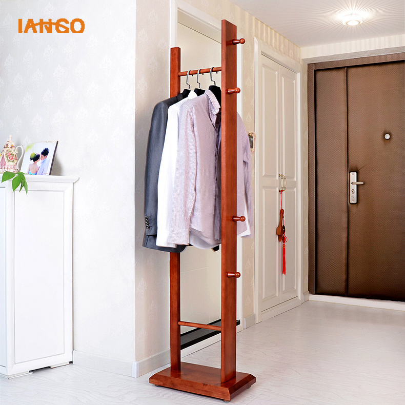 China cheap wood free Standing hall Coat Rack