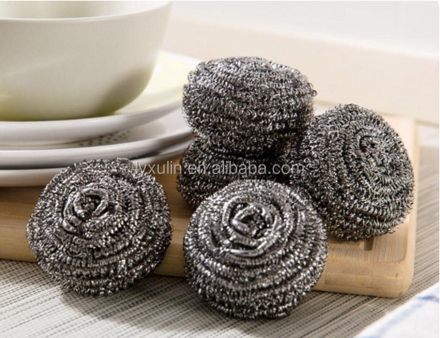 Good sale Kitchen Cleaning Stainless/steel Scourer ball/steel scrubber/bowl scrubber