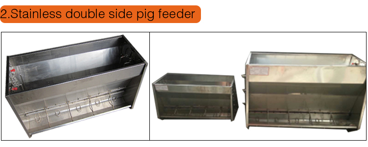 Goldenest Poultry Equipment Pig Stainless Double Side Feeder