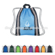 Custom silk waterproof nylon promotional drawstring Backpack bag