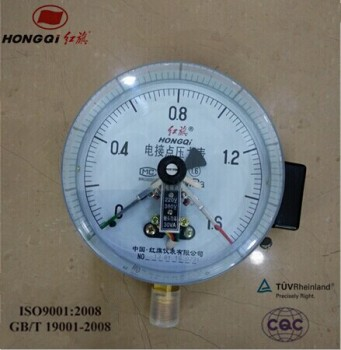 Pressure Gauge with electric contact with alarm