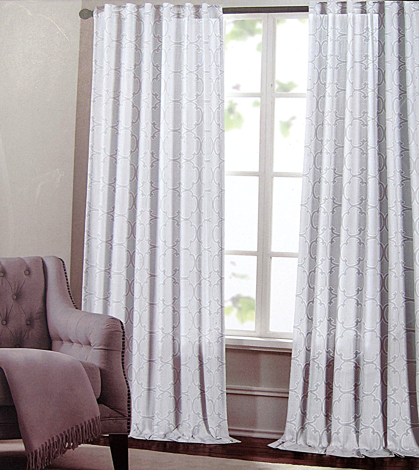 Get Quotations Max Studio Set Of 2 Window Curtains Panels Drapes Moroccan Tiles Lattice 52 By