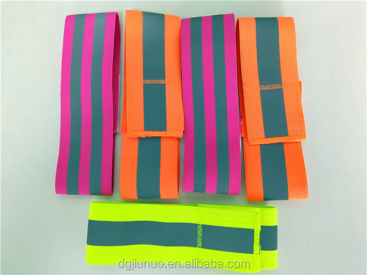 custom high visibility elastic running safety reflective ArmBand